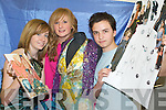 FASHIONABLE STUDENTS: Taking part in the fashion workshops in Mercy Mounthawk Secondary School were l-r: Aisling Ni Naullain, Katie Costello and Matthew Galvin.   Copyright Kerry's Eye 2008