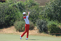 Eunshin Park (KOR) on the 8th fairway during Round 3 of the Rocco Forte Sicilian Open 2018 played at Verdura Resort, Agrigento, Sicily, Italy on Saturday 12th May 2018.<br /> Picture:  Thos Caffrey / www.golffile.ie<br /> <br /> All photo usage must carry mandatory copyright credit (&copy; Golffile   Thos Caffrey)