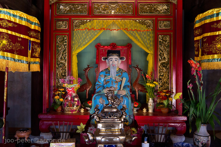 shrine in Chung Chou Tan Xuan congregation hall  of chinese community   in Hoi An, Vietnam