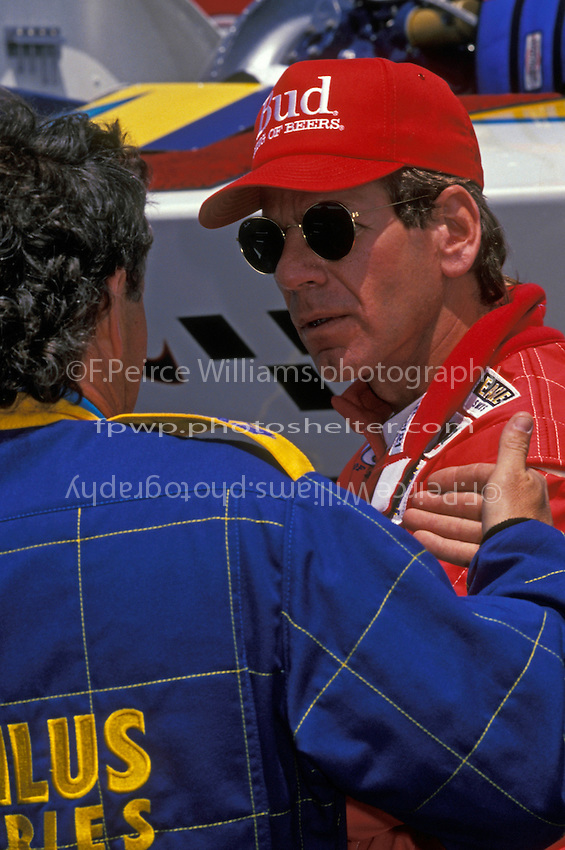 "Chip Hanauer, U-1 ""Miss Budweiser"" and Exide driver Mark Evans."