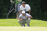 Pablo Larrazabal lines up his putt on the 5th green during Day 3 of The BMW International Open Munich at Eichenried Golf Club, 26th June 2010 (Photo by Eoin Clarke/GOLFFILE).
