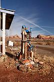 USA, Utah, Bluff, sculpture by artist JR Lancaster at his Cloudwatcher Studio