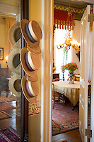 Hat Display.Mainstay Inn, Victorian Mansion.Cape May, New Jersey