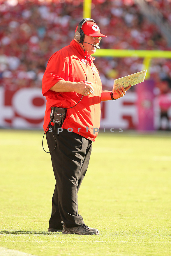 Kansas City Chiefs Andy Reid (HC) during a game against the San Francisco 49ers on October 5, 2014 at Levi's Stadium in Santa Clara, CA. the 49ers beat the Chiefs 22-17.