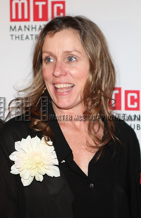 Frances McDormand.attending the Opening Night Performance After Party for the Manhattan Theatre Club's 'Good People'  in New York City.