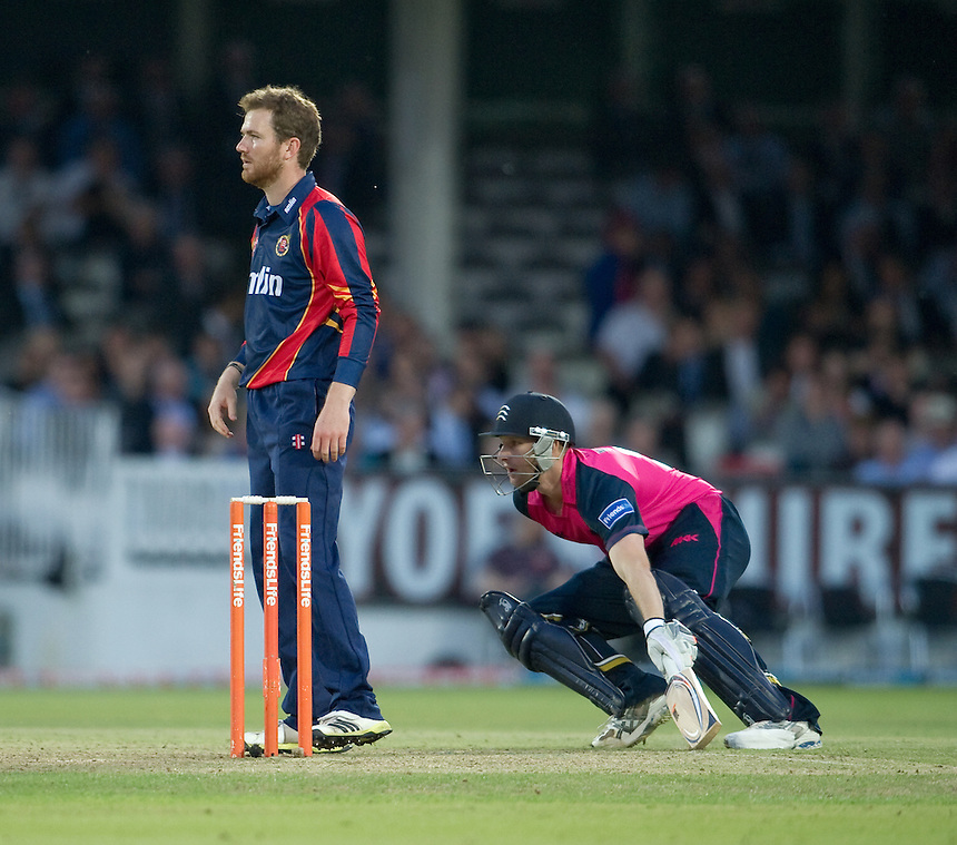 Middlesex Panthers' Adam Voges turns for a 2nd run in the game at Lords against Essex Eagles<br /> <br />  (Photo by Ashley Western/CameraSport) <br /> County Cricket - Friends Life t20 2013 - Middlesex v Essex - Thursday 04th July 2013 - Lord's, London <br /> <br />  &copy; CameraSport - 43 Linden Ave. Countesthorpe. Leicester. England. LE8 5PG - Tel: +44 (0) 116 277 4147 - admin@camerasport.com - www.camerasport.com