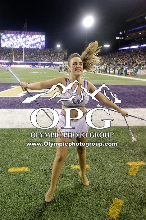 OCT 17:  Washington's Krissy Terwilliger against Oregon.  Oregon defeated Washington 26-20 at Husky Stadium in Seattle, WA.
