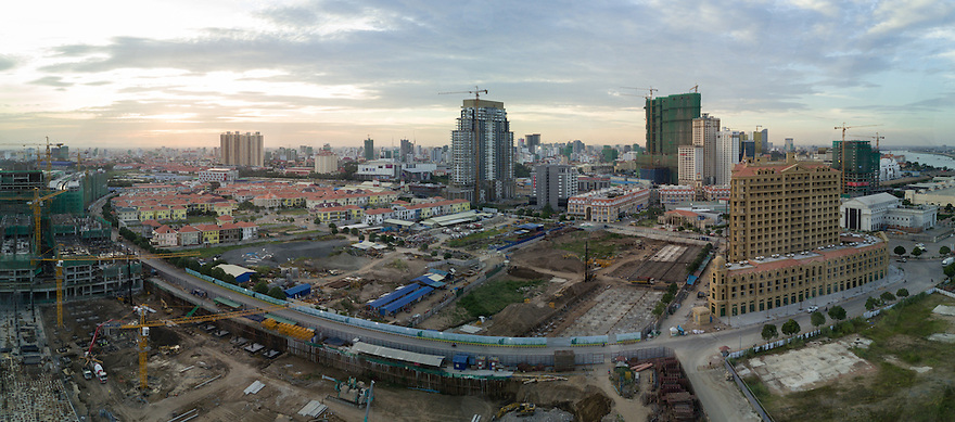 January 18, 2017 - Phnom Penh (Cambodia). Panoramic aerial view of Koh Pich. © Thomas Cristofoletti / Ruom