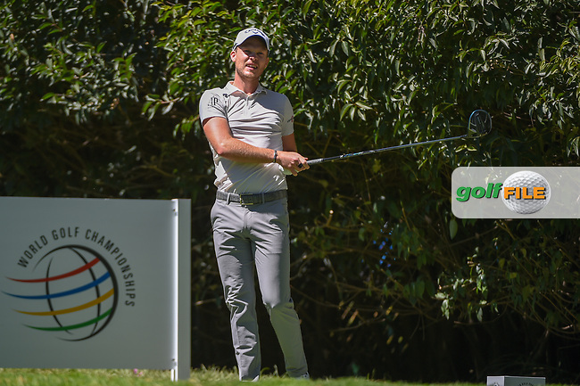 Danny Willett (GBR) watches his tee shot on 2 during round 1 of the World Golf Championships, Mexico, Club De Golf Chapultepec, Mexico City, Mexico. 2/21/2019.<br /> Picture: Golffile | Ken Murray<br /> <br /> <br /> All photo usage must carry mandatory copyright credit (© Golffile | Ken Murray)