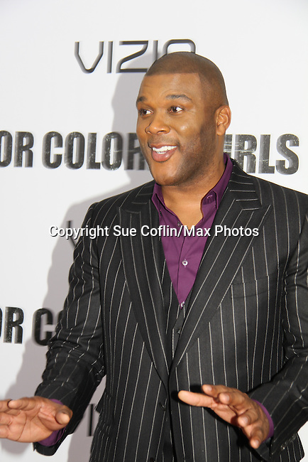 """Tyler Perry attending The New York Special Screening of Tyler Perry's next film """"For Colored Girls"""" on October 25, 2010 at the Ziegfield Theater, New York City, New York. (Photo by Sue Coflin/Max Photos)"""