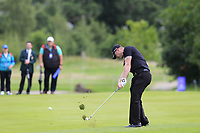Scott Henry (SCO) plays his 2nd shot on the 16th hole during Sunday's Final Round of the Northern Ireland Open 2018 presented by Modest Golf held at Galgorm Castle Golf Club, Ballymena, Northern Ireland. 19th August 2018.<br /> Picture: Eoin Clarke | Golffile<br /> <br /> <br /> All photos usage must carry mandatory copyright credit (&copy; Golffile | Eoin Clarke)