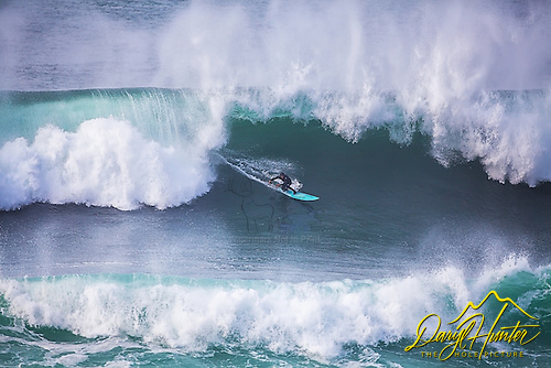 Surfing huge waves at Montana de Oro on Caliifornia's Central Coast
