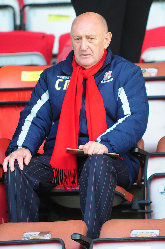 Former Lincoln City manager Colin Murphy <br /> <br /> Photo by Chris Vaughan/CameraSport<br /> <br /> Football - The Skrill Premier - Lincoln City v Cambridge United - Friday 18th April 2014 - Gelder Group Sincil Bank Stadium - Lincoln<br /> <br /> &copy; CameraSport - 43 Linden Ave. Countesthorpe. Leicester. England. LE8 5PG - Tel: +44 (0) 116 277 4147 - admin@camerasport.com - www.camerasport.com