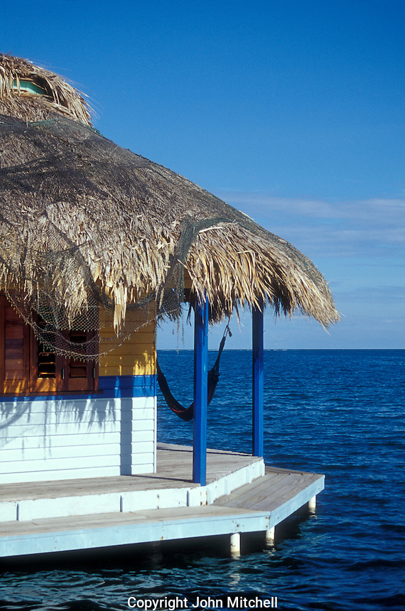 Guest cabin at Mango Creek Lodge on the Island of Roatan, Bay Islands, Honduras