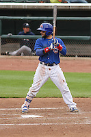 Iowa Cubs catcher Rafael Lopez (29) at bat during a Pacific Coast League game against the Colorado Springs Sky Sox on May 11th, 2015 at Principal Park in Des Moines, Iowa.  Colorado Springs defeated Iowa 13-7.  (Brad Krause/Four Seam Images)