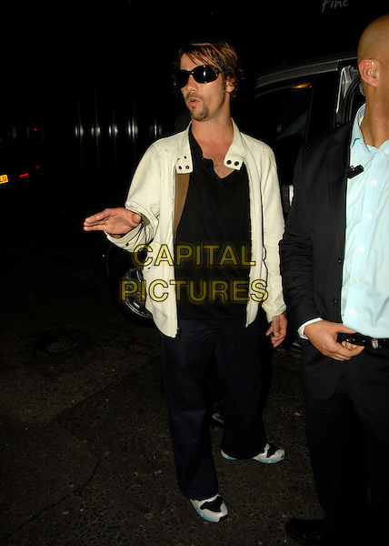 JAY KAY - JAMIROQUAI.Leaving The Cuckoo Club, London, UK..May 20th, 2006.Ref: SW.full length suglasses shades white jacket hand black trousers.www.capitalpictures.com.sales@capitalpictures.com.©Capital Pictures.