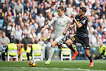 Cristiano Ronaldo of Real Madrid fights for the ball with Diego Reyees of RCD Espanyol during the match Real Madrid vs RCD Espanyol, a La Liga match at the Santiago Bernabeu Stadium on 18 February 2017 in Madrid, Spain. Photo by Diego Gonzalez Souto / Power Sport Images