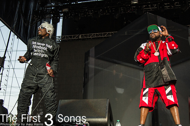 André 3000 and Big Boi of Outkast performs at the 2nd Annual BottleRock Napa Festival at Napa Valley Expo in Napa, California.