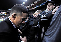 Fans greet Sonny Bill Williams during the Steinlager Series international rugby match between the New Zealand All Blacks and France at Westpac Stadium in Wellington, New Zealand on Saturday, 16 June 2018. Photo: Dave Lintott / lintottphoto.co.nz