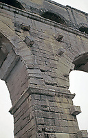 Detail of arches at Pont du Gard aqueduct, Vers-Pont-du-Gard, Early 1st Century AD