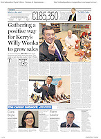 Bill Cullen at Skelligs Chocolates in Sunday Independent photographed by Don MacMonagle