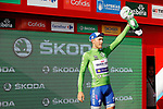 Matteo Trentin (ITA) Quick-Step Floors retains the points Green Jersey on the podium at the end of Stage 14 of the 2017 La Vuelta, running 175km from &Eacute;cija to Sierra de La Pandera, Spain. 2nd September 2017.<br /> Picture: Unipublic/&copy;photogomezsport | Cyclefile<br /> <br /> <br /> All photos usage must carry mandatory copyright credit (&copy; Cyclefile | Unipublic/&copy;photogomezsport)