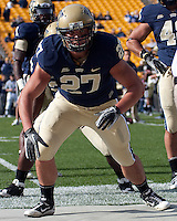 Pitt running back Henry Hynoski. The Pitt Panthers defeated the Louisville Cardinals 20-3 at Heinz Field, Pittsburgh Pennsylvania on October 30, 2010.