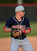 Lake Brantley Patriots third baseman Griffin Bernardo (11) during practice before a game against the Lake Mary Rams on April 2, 2015 at Allen Tuttle Field in Lake Mary, Florida.  Lake Brantley defeated Lake Mary 10-5.  (Mike Janes Photography)