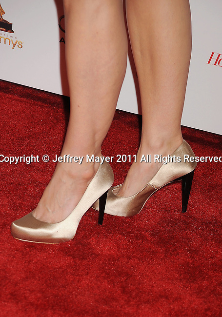 WEST HOLLYWOOD, CA - SEPTEMBER 16: Joelle Carter  (shoe detail) at the 63rd Annual Emmy Awards Performers Nominee Reception held at the Pacific Design Center on September 16, 2011 in West Hollywood, California.