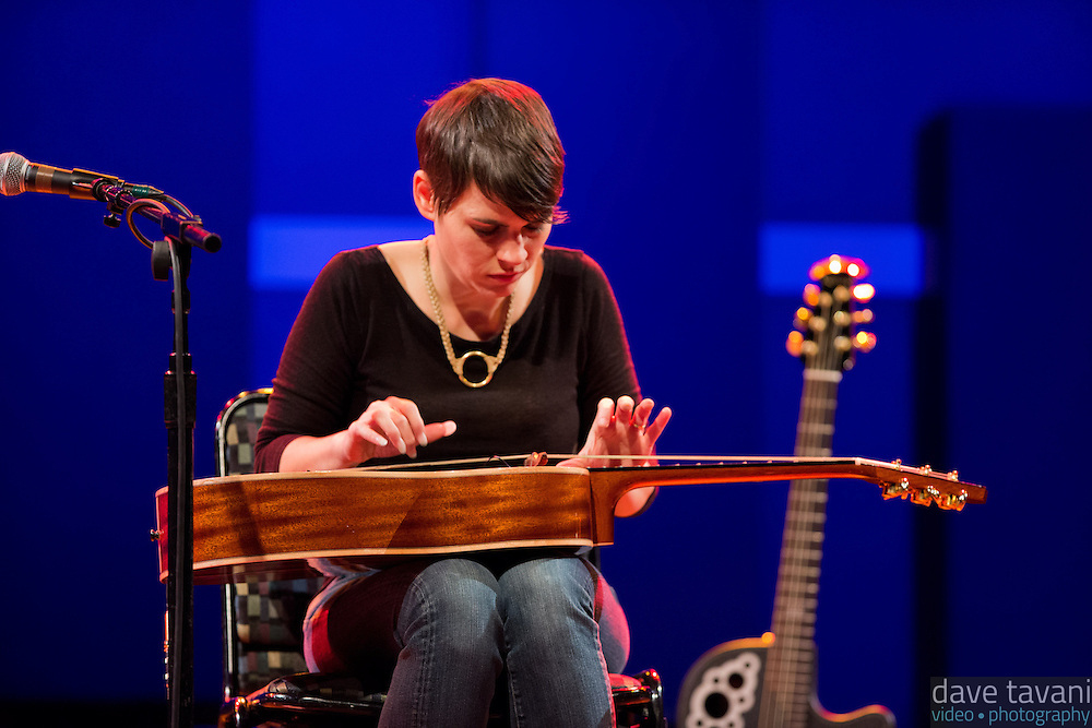 """Kaki King performs at World Cafe Live. Here she plays a """"Koto guitar"""" on the song """"Bowen Island."""""""