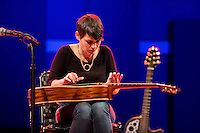 "Kaki King performs at World Cafe Live. Here she plays a ""Koto guitar"" on the song ""Bowen Island."""