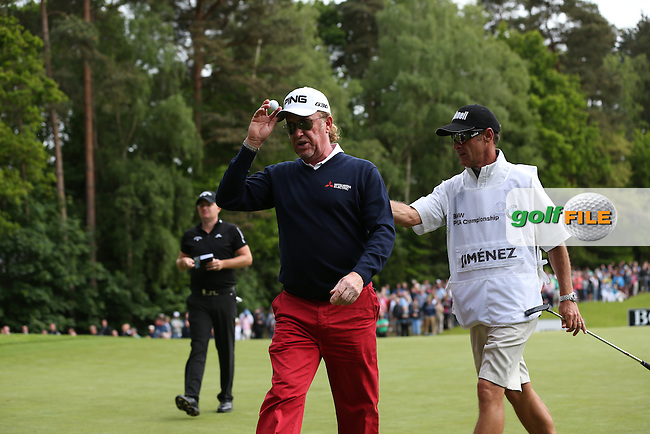 Miguel Angel Jimenez (ESP) shows true grit with a 68 during Round Three of the 2015 BMW PGA Championship over the West Course at Wentworth, Virginia Water, London. 23/05/2015. Picture David Lloyd | www.golffile.ie.