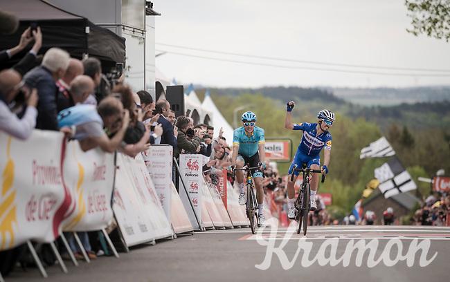 Julian ALAPHILIPPE (FRA/Deceuninck-Quick Step) wins his 2nd, consecutive Flèche up the infamous Mur de Huy<br /> <br /> 83rd La Flèche Wallonne 2019 (1.UWT)<br /> One day race from Ans to Mur de Huy (BEL/195km)<br /> <br /> ©kramon
