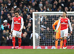 Arsenal's Santi Cazorla looks on dejected after going 2-1 down<br /> <br /> Barclays Premier League- Tottenham Hotspurs vs Arsenal  - White Hart Lane - England - 7th February 2015 - Picture David Klein/Sportimage