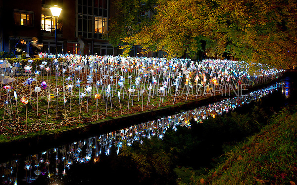 The Wings Of Light installation at the Glow Lightfestival in Eindhoven (Holland, 10/11/2013)