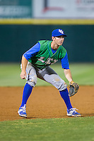 Lexington Legends third baseman Mike Hill (11) on defense against the Hickory Crawdads at L.P. Frans Stadium on April 29, 2016 in Hickory, North Carolina.  The Crawdads defeated the Legends 6-2.  (Brian Westerholt/Four Seam Images)