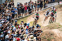Picture by Alex Broadway/SWpix.com - 09/09/17 - Cycling - UCI 2017 Mountain Bike World Championships - XCO - Cairns, Australia - Nino Schurter of Switzerland in action during the Men's Elite Cross Country Final.