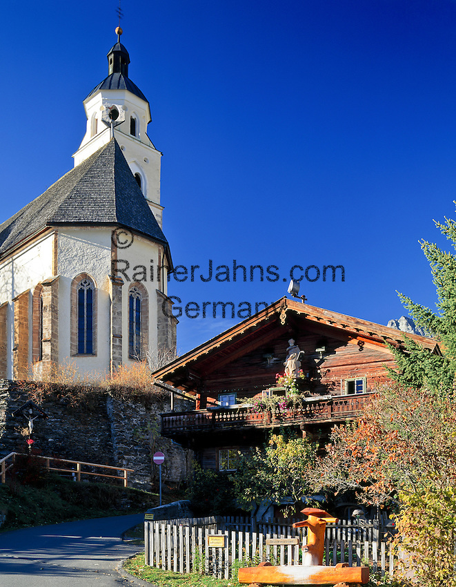 Austria, East-Tyrol, Virgen Valley, Obermauern: pilgrimage church Mary Snow | Oesterreich, Ost-Tirol, Virgental, Obermauern: Wallfahrtskirche zu Unserer Lieben Frau Maria-Schnee