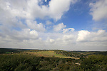Israel, Shephelah. A view from Hurbat Itri, ruins of a Jewish village from the Second Temple period