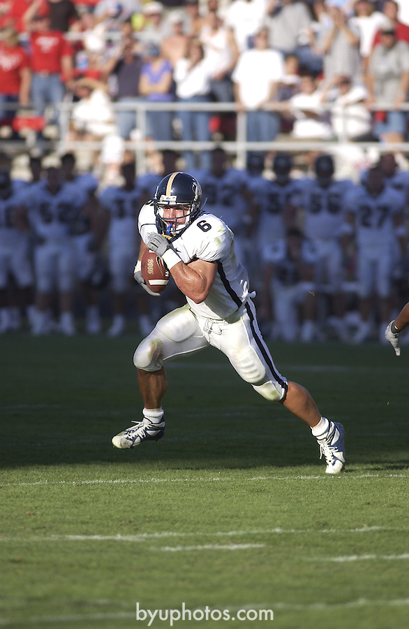 Football BYU at UNLV<br /> September 29, 2001<br /> <br /> won 35-31<br /> <br /> 6 Luke Staley<br /> <br /> Photography by Mark A. Philbrick