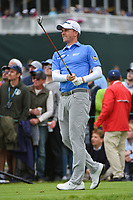 Webb Simpson (USA) watches his tee shot on 17 during round 4 of the 2019 US Open, Pebble Beach Golf Links, Monterrey, California, USA. 6/16/2019.<br /> Picture: Golffile | Ken Murray<br /> <br /> All photo usage must carry mandatory copyright credit (© Golffile | Ken Murray)