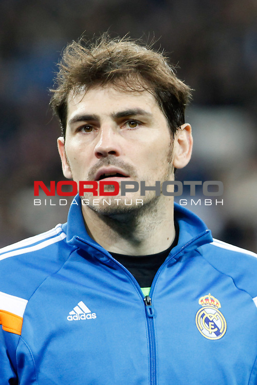 Real Madrid¬¥s goalkeeper Iker Casillas during King¬¥s Cup match in Santiago Bernabeu stadium in Madrid, Spain. January 09, 2014. Foto © nph / Victor Blanco)