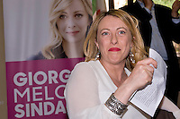 The candidate for mayor in Rome Giorgia Meloni