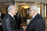 Palestinian President, Mahmoud Abbas (Abu Mazen) meets with the leader of the People's Party of Turkey, Kamal Ktch in Ankara the capital of Turkish, On Dec. 21, 2011. Photo by Thaer Ghanaim