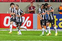 BELO HORIZONTE, MG, 07 JUNHO 2013 - CAMPEONATO BRASILEIRO - ATLÉTICO MG X CRICIUMA -jogadores do Atlético Mineiro comemoram o primeiro gol do Atlético em partida contra o Criciuma, jogo válido pela06º rodada doCampeonato brasileiro 2013, no estádio Independencia em Belo Horizonte, na tarde deste Domingo, 07. (FOTO: NEREU JR / BRAZIL PHOTO PRESS).