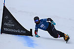 Parallel Slalom event of the FIS Snowboard World Cup on 19/12/2019 in Carezza, Italy.<br />  Sebastian Kislinger (AUT)