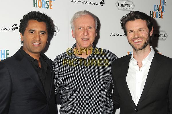 30 March 2016 - Los Angeles, California - Cliff Curtis, James Cameron, James Napier Robertson. &quot;The Dark Horse&quot; Los Angeles Premiere held at the Ace Hotel Theatre. <br /> CAP/ADM/BP<br /> &copy;BP/ADM/Capital Pictures
