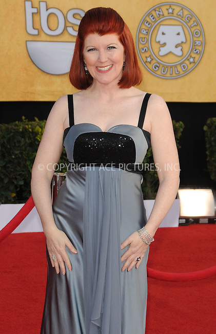 WWW.ACEPIXS.COM . . . . . ....January 30 2011, Los Angeles....Kate Flannery arriving at the 17th Annual Screen Actors Guild Awards held at The Shrine Auditorium on January 30, 2011 in Los Angeles, CA....Please byline: PETER WEST - ACEPIXS.COM....Ace Pictures, Inc:  ..(212) 243-8787 or (646) 679 0430..e-mail: picturedesk@acepixs.com..web: http://www.acepixs.com