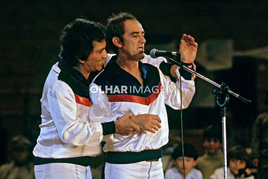 Personalidades. Artistas. Trapalhoes Dede e Didi. 1980. Foto de Juca Martins.
