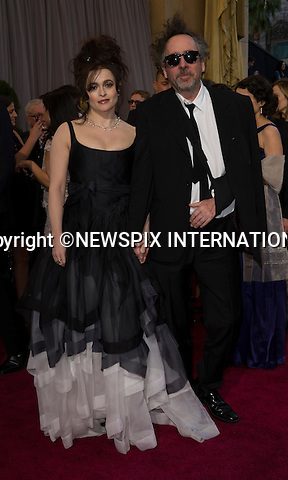 "HELENA BONHAM CARTER and TIM BURTON..Red Carpet arrival for the 85th Annual Academy Awards, Dolby Theatre, Hollywood, Los Angeles_23/02/2013.Mandatory Photo Credit: ©Dias/Newspix International..**ALL FEES PAYABLE TO: ""NEWSPIX INTERNATIONAL""**..PHOTO CREDIT MANDATORY!!: NEWSPIX INTERNATIONAL(Failure to credit will incur a surcharge of 100% of reproduction fees)..IMMEDIATE CONFIRMATION OF USAGE REQUIRED:.Newspix International, 31 Chinnery Hill, Bishop's Stortford, ENGLAND CM23 3PS.Tel:+441279 324672  ; Fax: +441279656877.Mobile:  0777568 1153.e-mail: info@newspixinternational.co.uk"